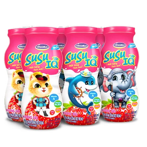Lốc 6 chai sữa chua uống dâu SuSu IQ 80ml