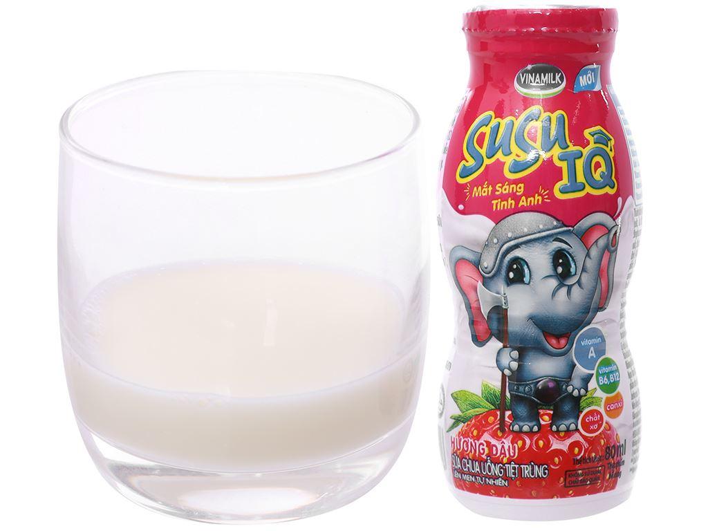 Lốc 6 chai sữa chua uống SuSu IQ dâu 80ml 2