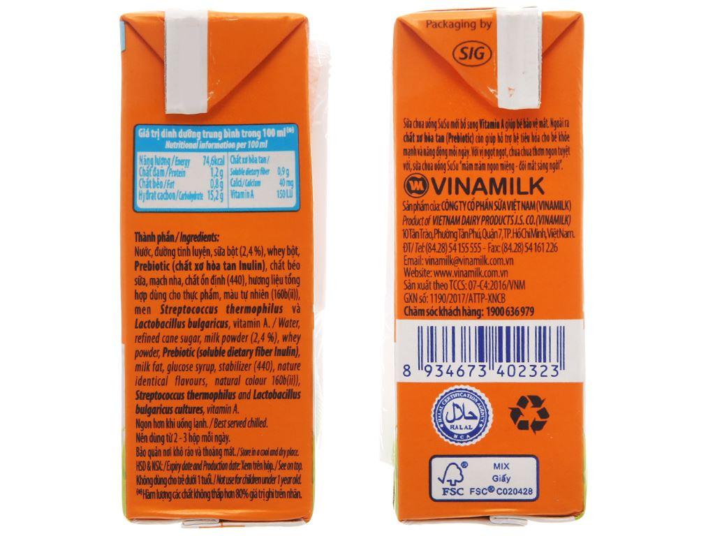 Sữa chua uống SuSu cam 110ml 4