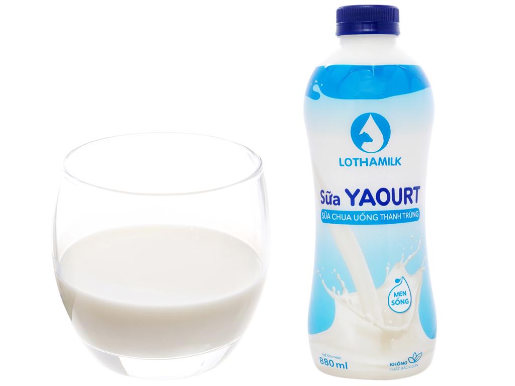 Sữa chua uống thanh trùng Lothamilk có đường chai 880ml 4