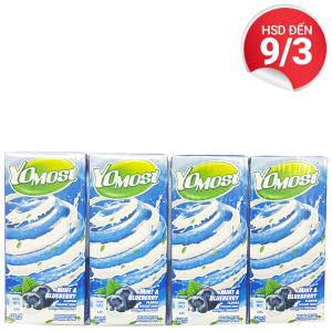 Lốc 4 hộp sữa chua uống bạc hà, việt quất YoMost 170ml