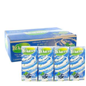 Thùng 48 hộp sữa chua uống YoMost bạc hà, việt quất 170ml