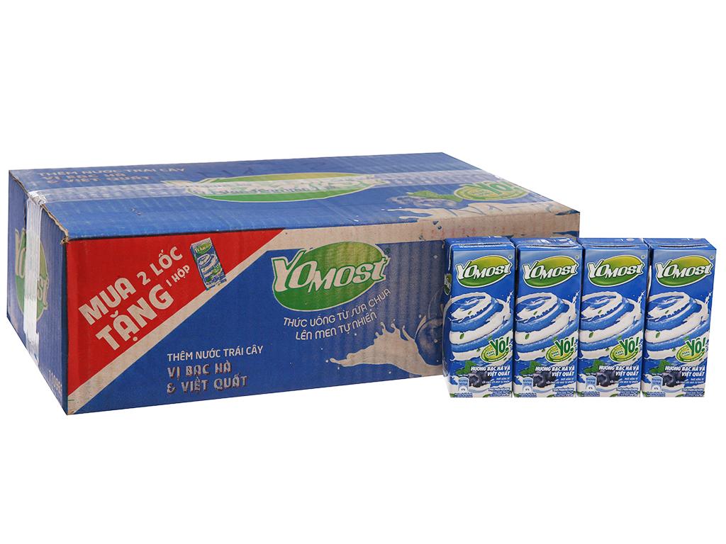 Thùng 48 hộp sữa chua uống YoMost bạc hà, việt quất 170ml 2