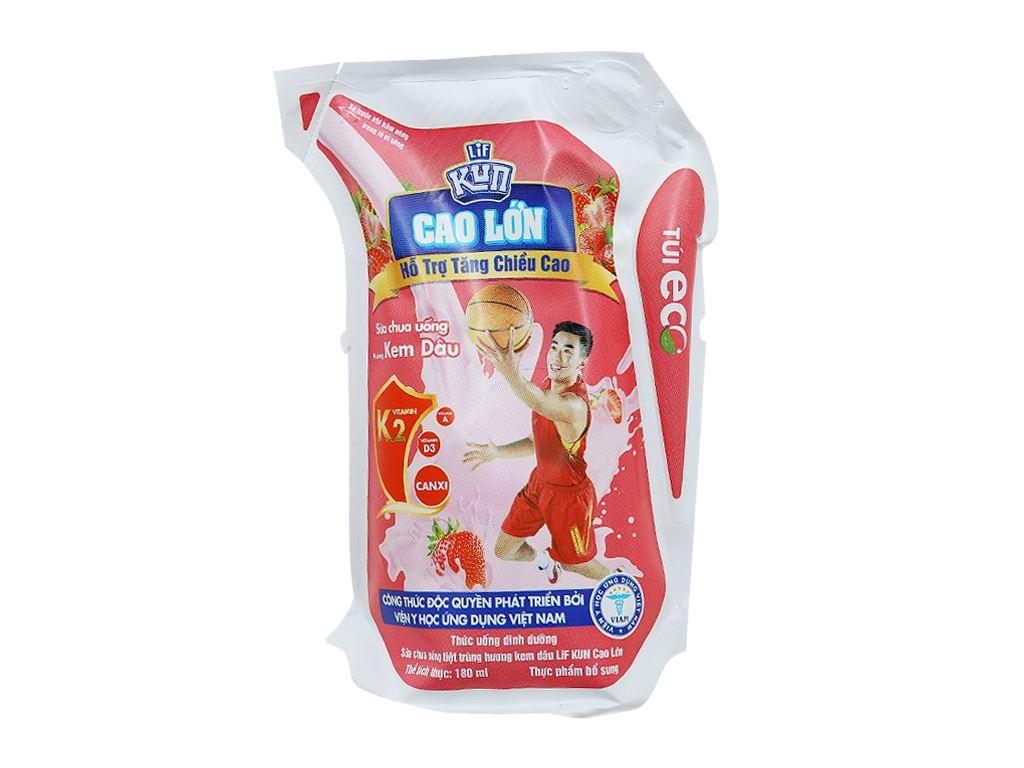 Sữa chua uống Kun kem dâu 180ml 1