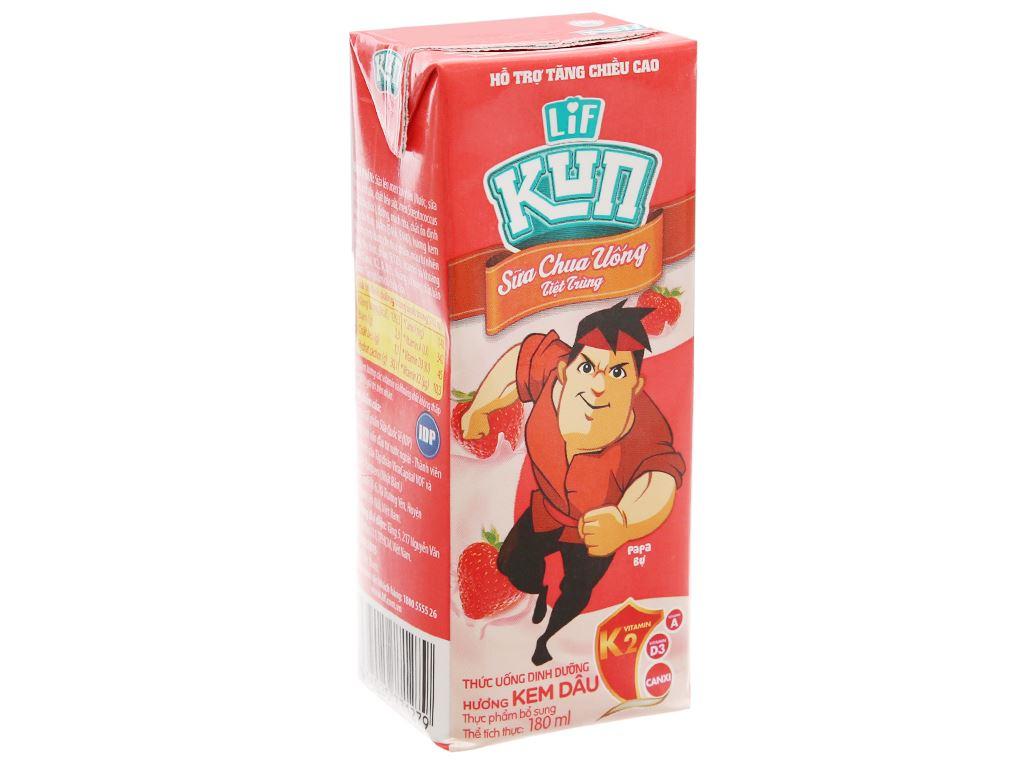 Sữa chua uống LiF Kun kem dâu 180ml 2