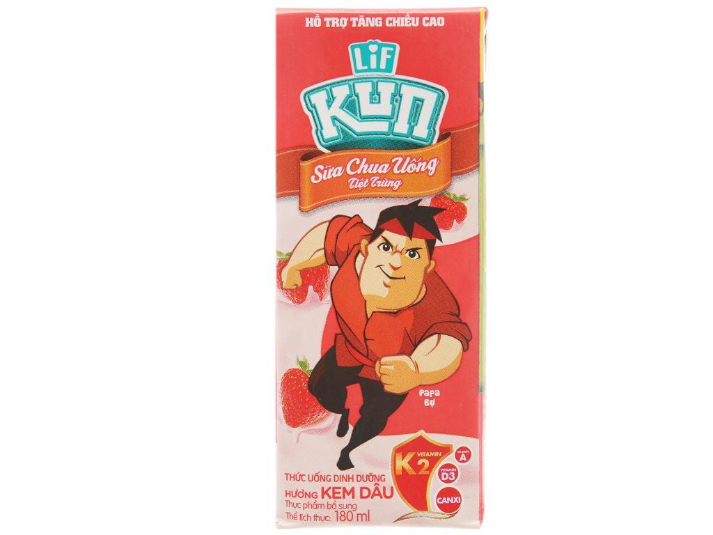 Sữa chua uống LiF Kun kem dâu 180ml 3