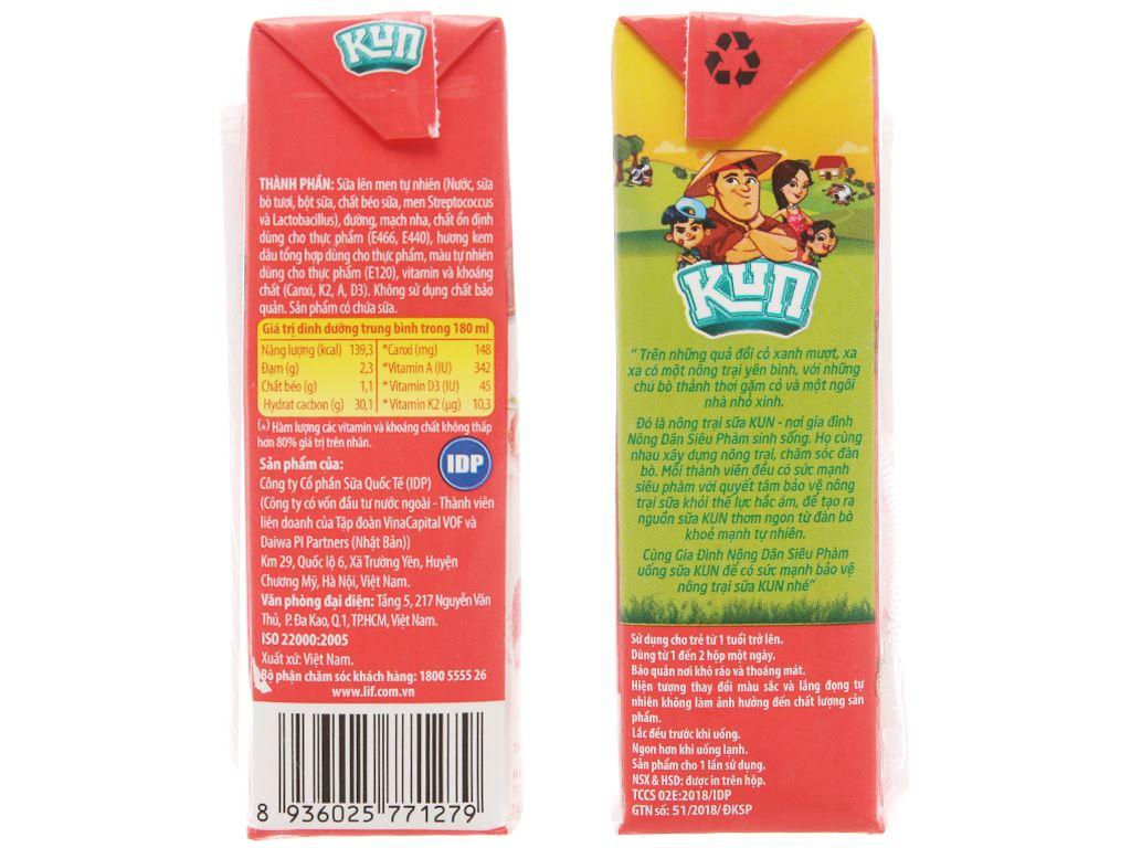 Sữa chua uống LiF Kun kem dâu 180ml 5