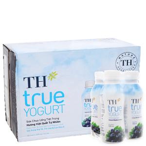 Thùng 48 chai sữa chua uống TH True Yogurt việt quất 180ml