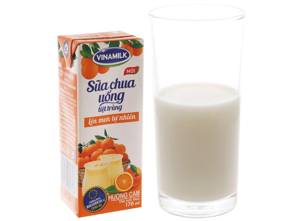 Thùng 48 hộp sữa chua uống hương cam Vinamilk 170ml 4