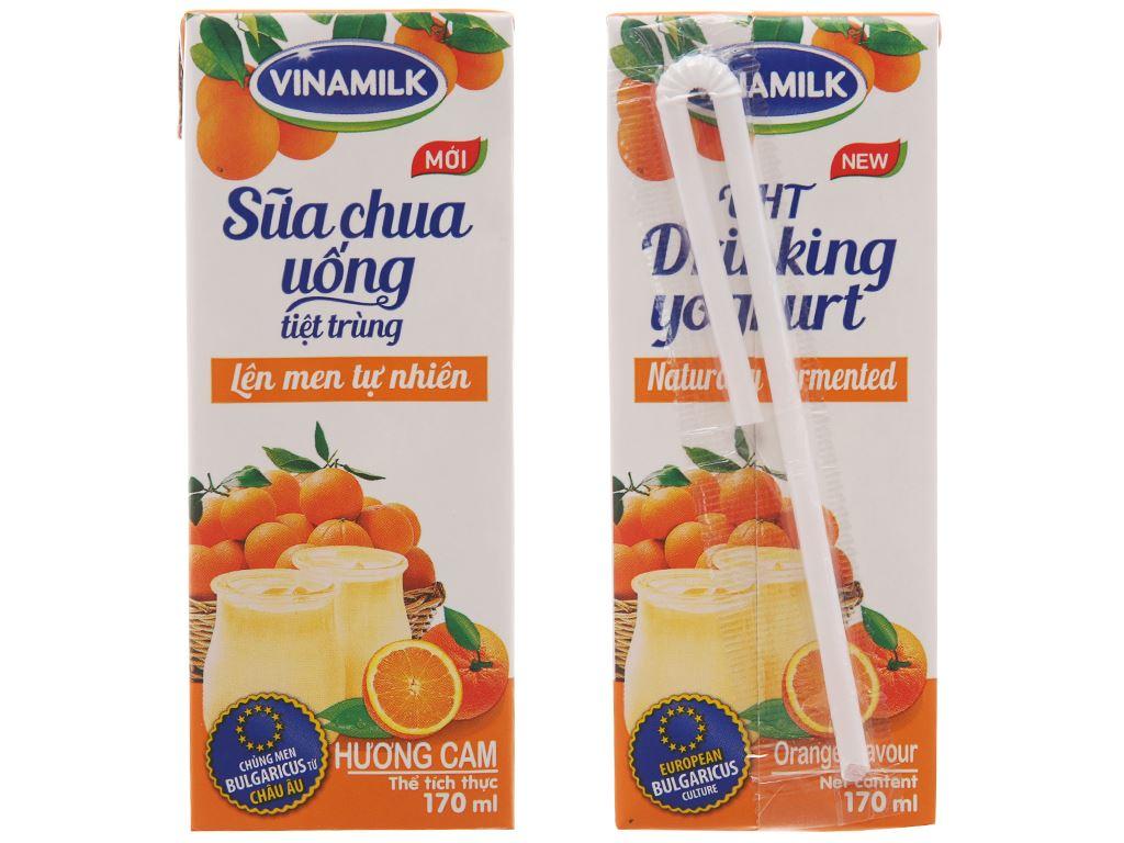 Thùng 48 hộp sữa chua uống Vinamilk cam 170ml 2