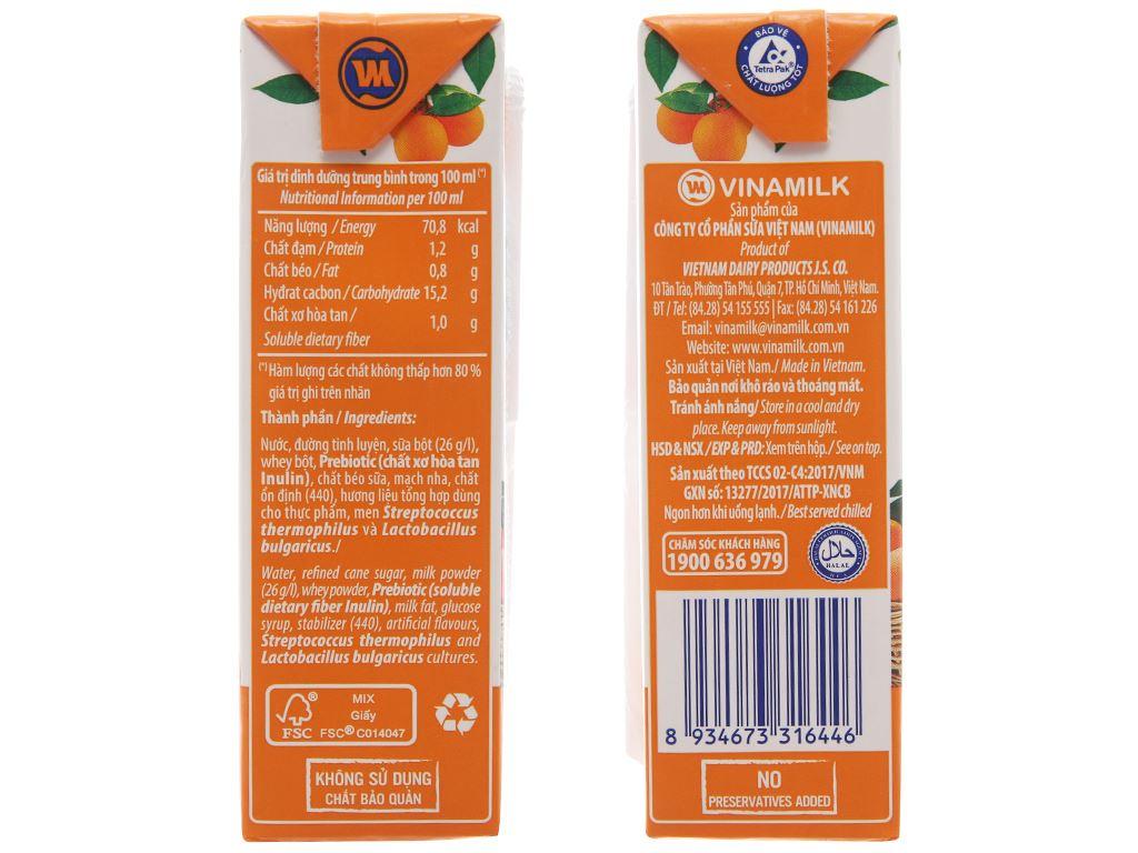 Thùng 48 hộp sữa chua uống Vinamilk cam 170ml 3