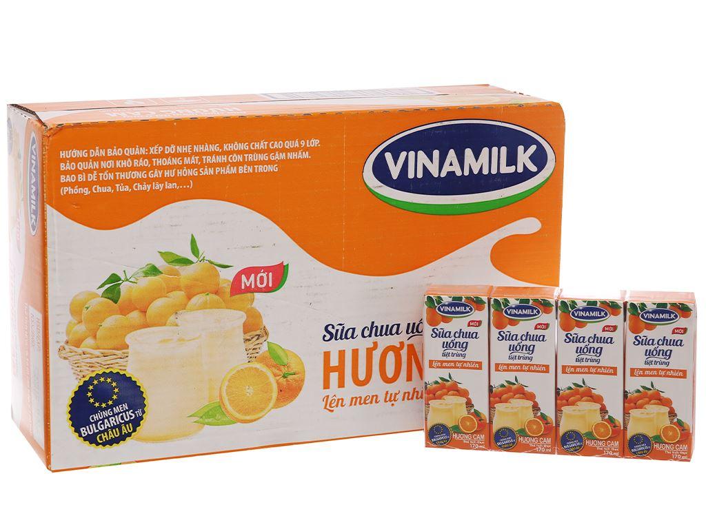 Thùng 48 hộp sữa chua uống Vinamilk cam 170ml 1