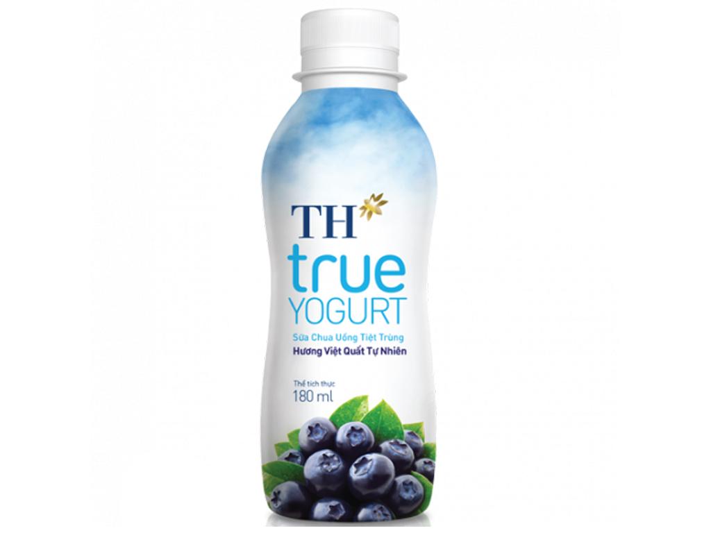 Sữa chua uống tiệt trùng TH True Yogurt việt quất 180ml 1