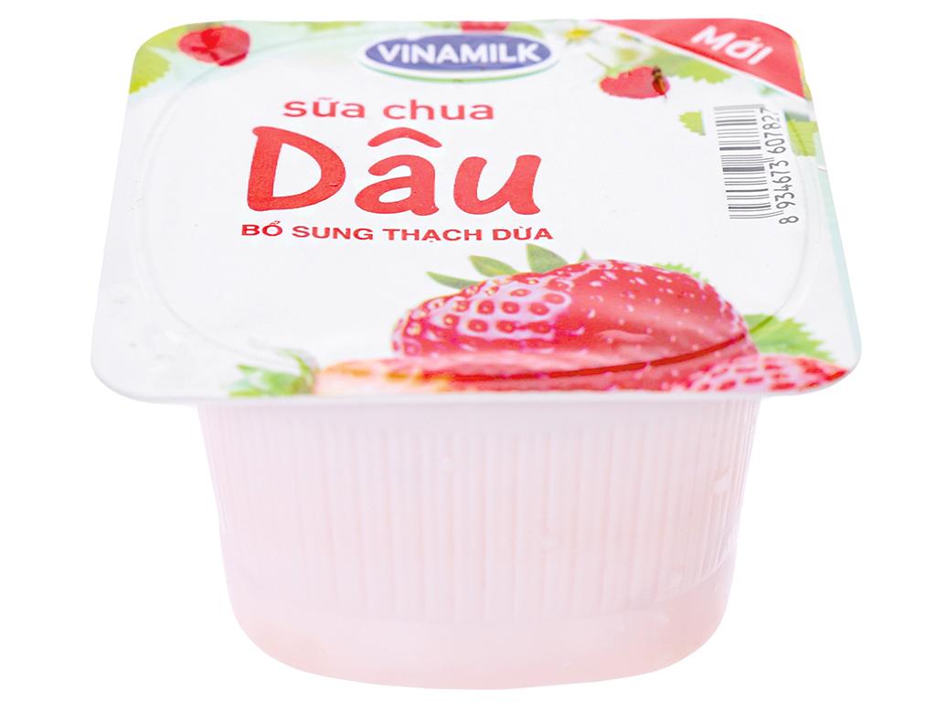 Sữa chua Vinamilk lên men tự nhiên dâu hộp 100g 2