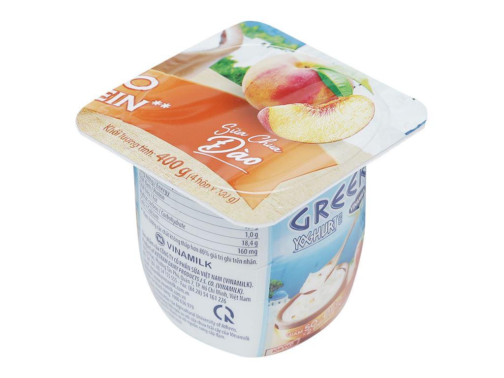 Sữa chua Vinamilk Greek Yoghurt đào hộp 100g 1