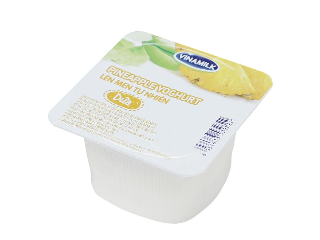 Sữa chua Vinamilk lên men tự nhiên dứa hộp 100g 1