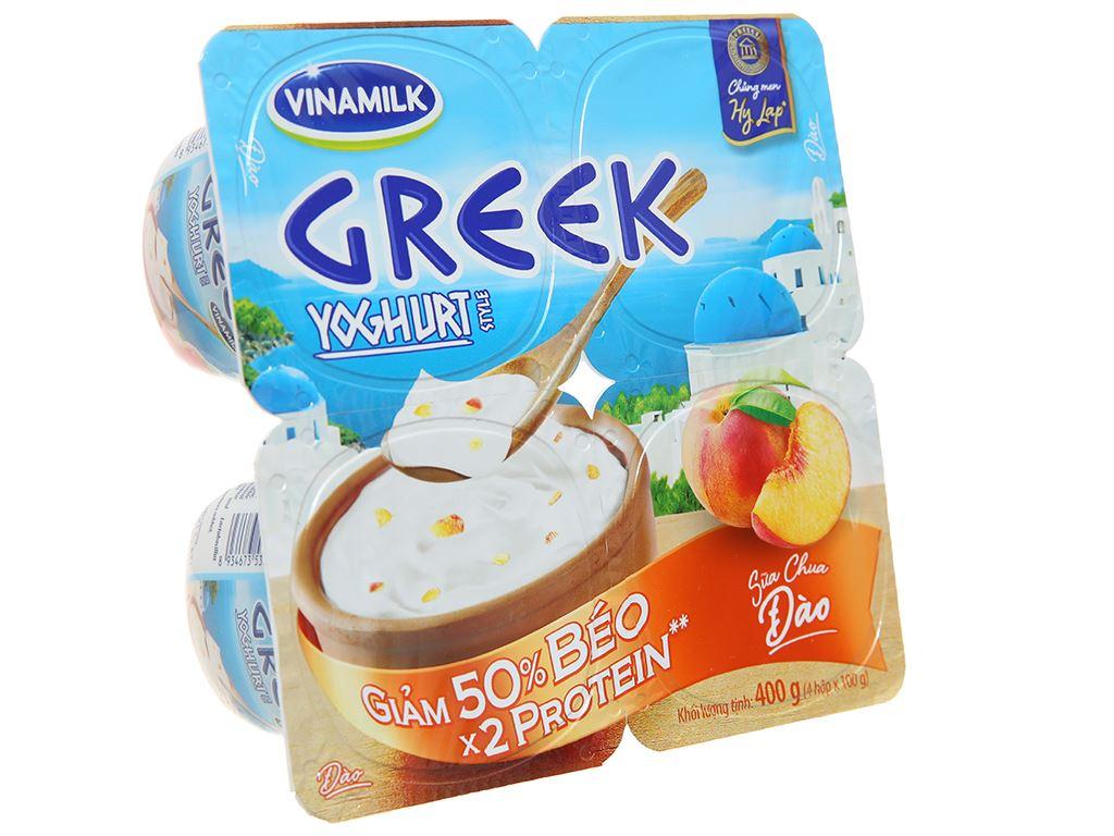 Lốc 4 hộp sữa chua Vinamilk Greek Yoghurt đào 100g 1