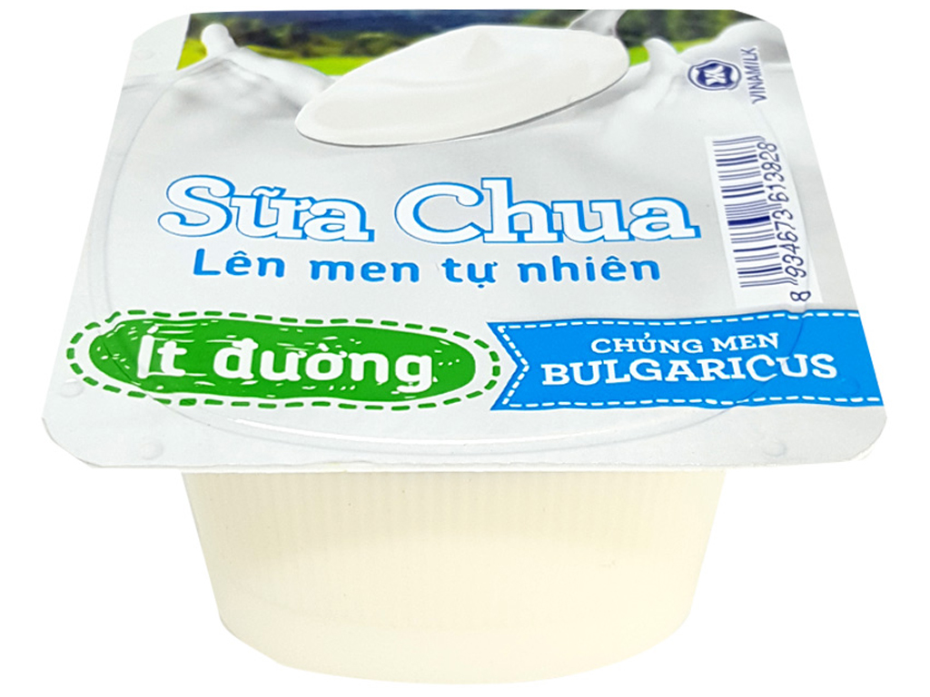 Sữa chua Vinamilk lên men tự nhiên ít đường hộp 100g 1