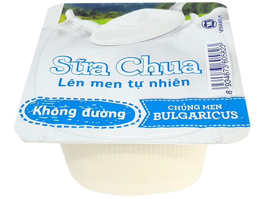 Sữa chua Vinamilk lên men tự nhiên không đường hộp 100g 1