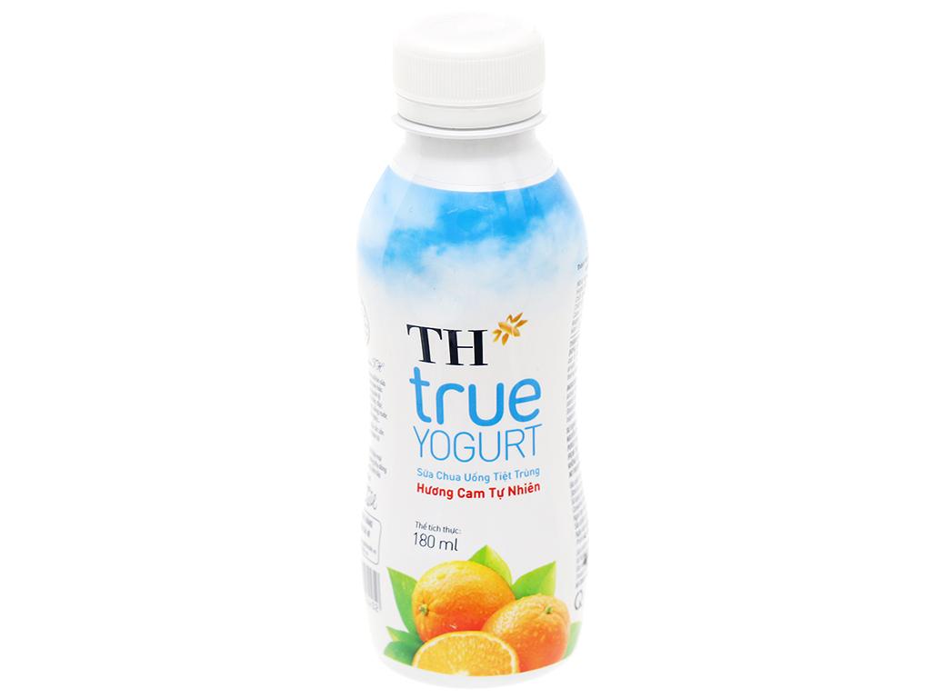 Lốc 4 chai sữa chua uống hương cam tự nhiên TH True Yogurt 180ml 2