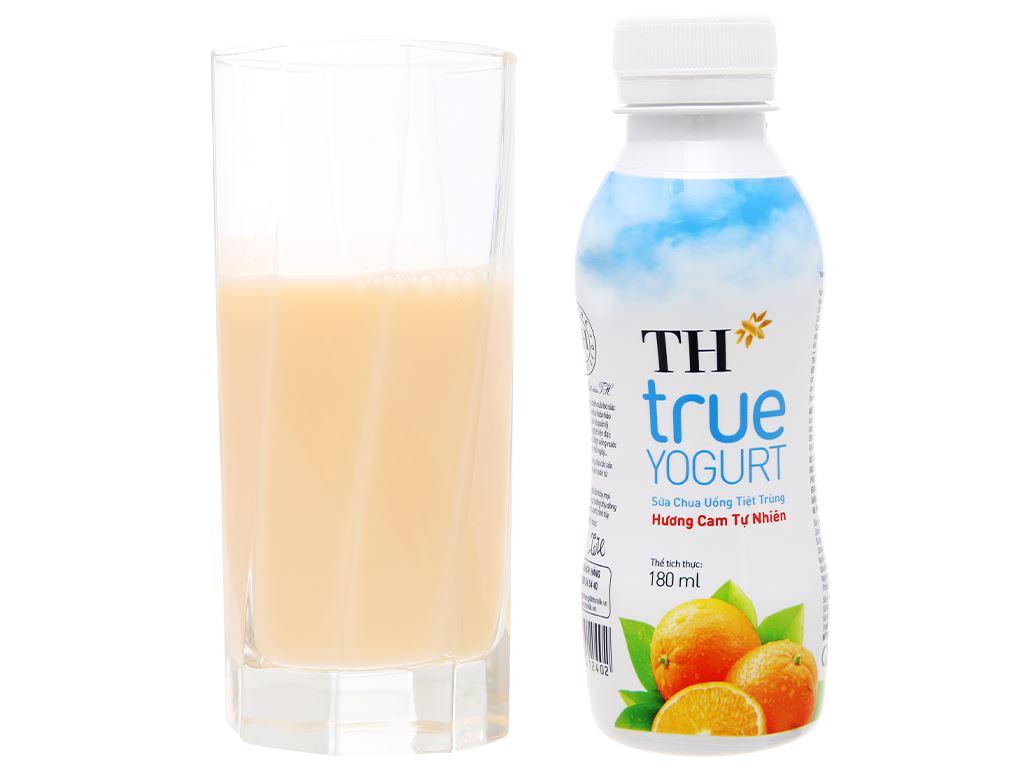 Lốc 4 chai sữa chua uống hương cam tự nhiên TH True Yogurt 180ml 7