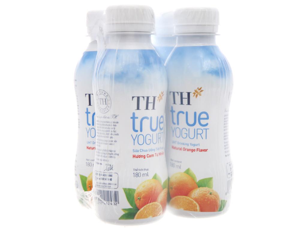 Lốc 4 chai sữa chua uống TH True Yogurt hương cam tự nhiên 180ml 1