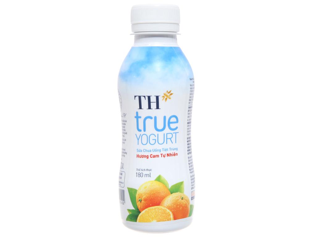 Lốc 4 chai sữa chua uống TH True Yogurt hương cam tự nhiên 180ml 3