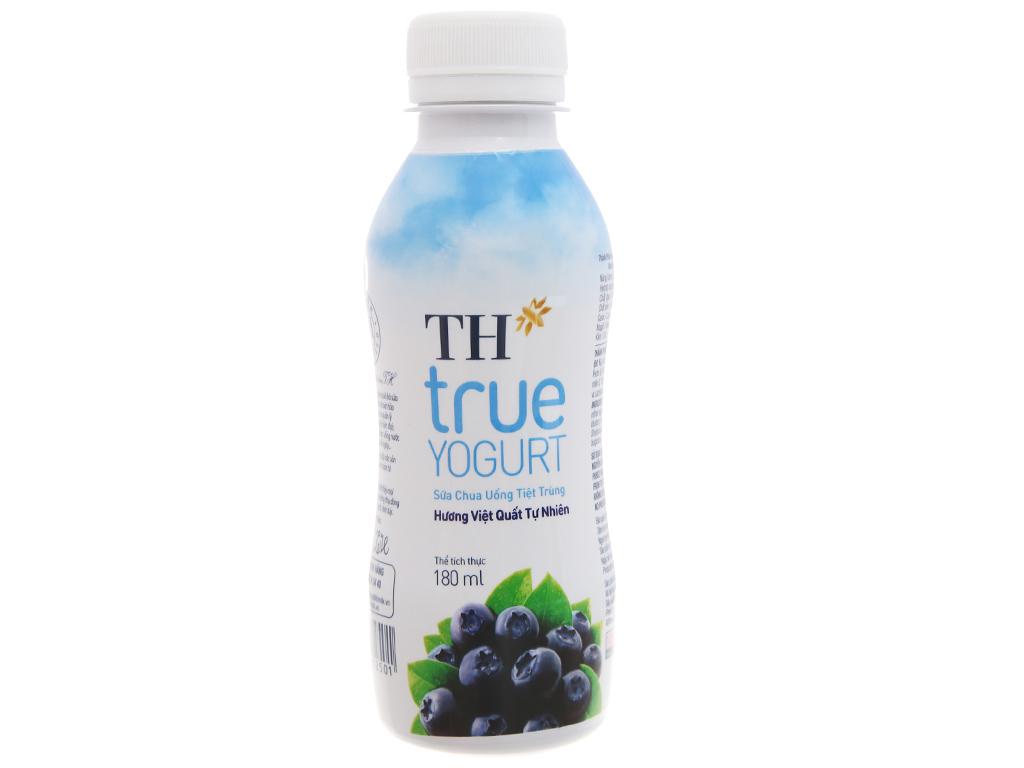 Lốc 4 chai sữa chua uống TH True Yogurt việt quất 180ml 5