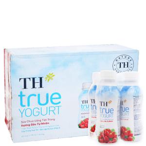 Thùng 48 chai sữa chua uống TH True Yogurt dâu chai 180ml