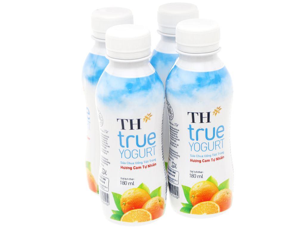 Thùng 48 chai sữa chua uống cam TH True Yogurt 180ml 2