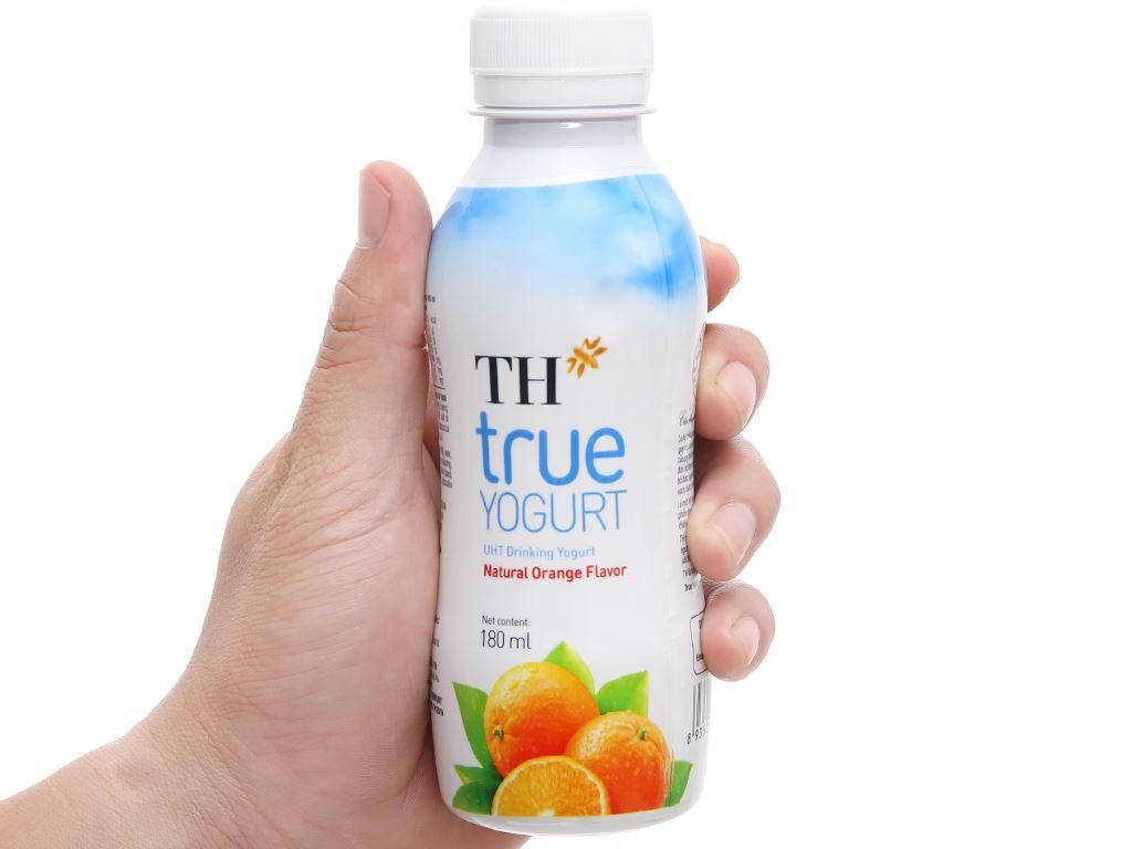 Thùng 48 chai sữa chua uống cam TH True Yogurt 180ml 6