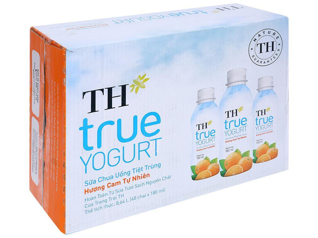 Thùng 48 chai sữa chua uống cam TH True Yogurt 180ml 1