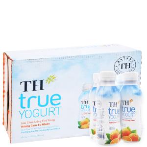 Thùng 48 chai sữa chua uống TH True Yogurt cam 180ml