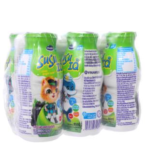 Lốc 6 chai sữa chua uống SuSu IQ hương táo nho 80ml