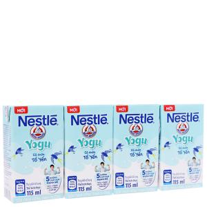 Lốc 4 hộp sữa chua uống có chứa tổ yến Nestlé Yogu 115ml