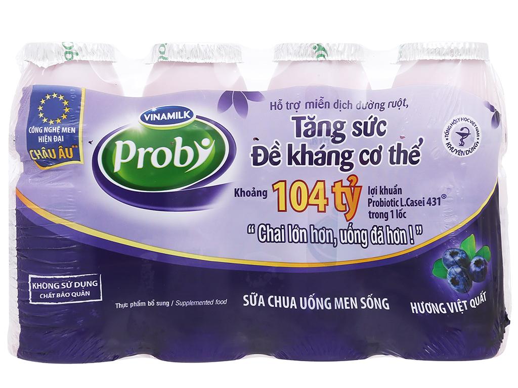 Lốc 4 chai sữa chua uống hương việt quất Vinamilk Probi 130ml 1