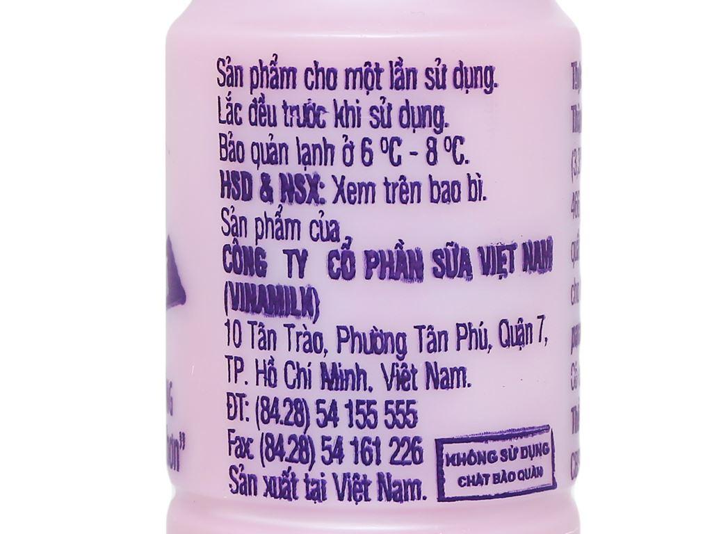 Lốc 4 chai sữa chua uống hương việt quất Vinamilk Probi 130ml 8