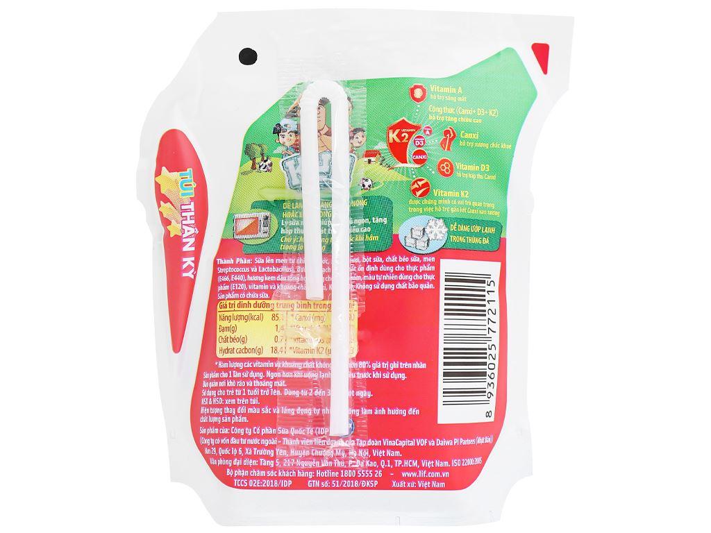 Sữa chua uống hương kem dâu LiF Kun túi 110ml 2