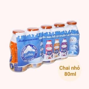 Lốc 5 chai thức uống từ sữa lên men vị cam Calpis Mini 80ml