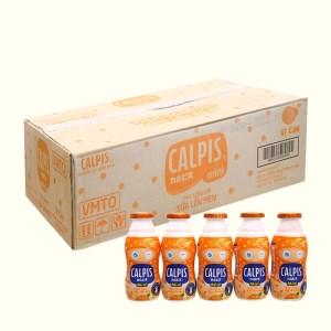 Thùng 40 chai thức uống từ sữa lên men vị cam Calpis Mini 80ml