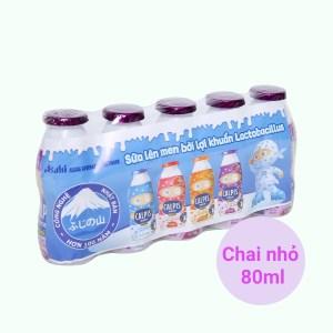 Lốc 5 chai thức uống từ sữa lên men vị nho Calpis Mini 80ml
