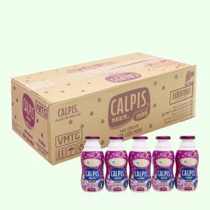Thùng 40 chai thức uống từ sữa lên men vị nho Calpis Mini 80ml