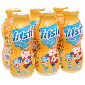 Lốc 6 chai sữa chua uống đào tiên Fristi 80ml