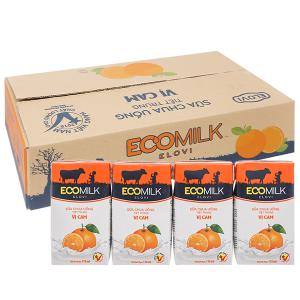 Thùng 48 hộp sữa chua uống vị cam Ecomilk 110ml