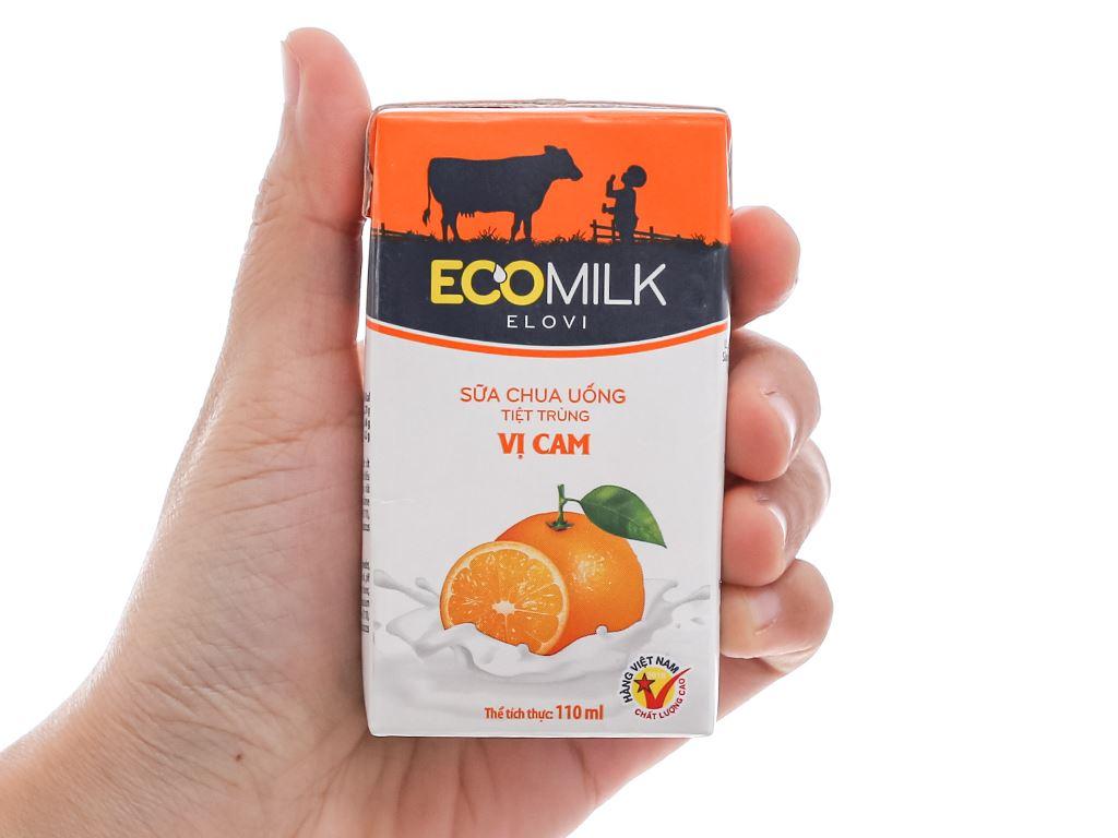 Thùng 48 hộp sữa chua uống vị cam Ecomilk 110ml 8