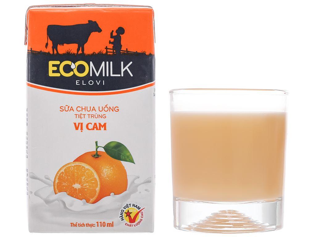 Thùng 48 hộp sữa chua uống vị cam Ecomilk 110ml 9