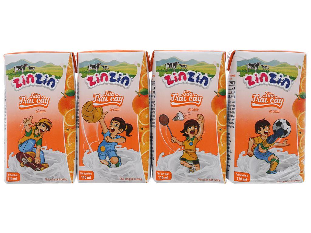 Thùng 48 hộp sữa trái cây vị cam ZinZin 110ml 2