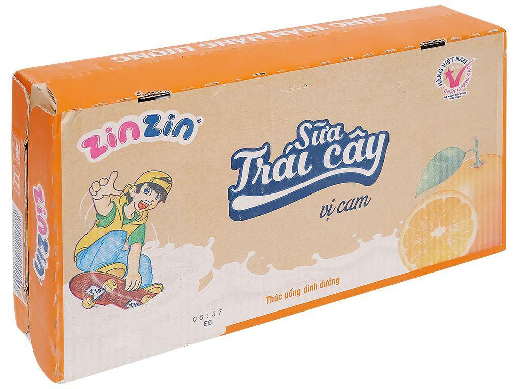 Thùng 48 hộp sữa trái cây vị cam ZinZin 110ml 1