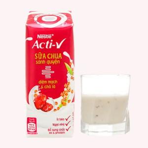 Sữa chua diêm mạch và chà là Nestlé Acti-V hộp 180ml