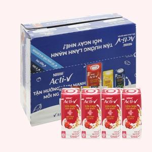 Thùng 24 hộp sữa chua diêm mạch và chà là Nestlé Acti-V 180ml